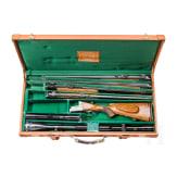 Bockdoppelbüchse Hambrusch, mit dreii Wechselläufen, im Koffer