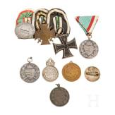 An Austro-Hungarian group of awards, 1914 - 1918