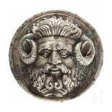 A Roman phalera with the head of Iupiter-Ammon, 1st century B.C.