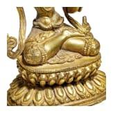 Vergoldete Bronze des Mañjuśrī mit Schwert, Tibet, 18. Jhdt.