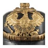 """A helmet for an officer candidate in the Field Artillerie Regiment """"von Scharnhorst"""" (1st Hanoverian) No. 10"""