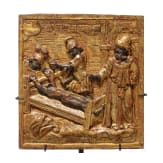 Three Italian carved wooden panels with martyrdom scenes, 17th century