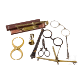 Various measuring instruments, magnifying glasses, etc., 19th century