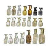 Sammlung 21 spätrömischer und frühbyzantinischer Glasgefäße, östlicher Mittelmeerraum