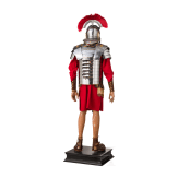 An armour of a Roman legionary soldier with centurion's helmet