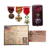 Commander Marie Joseph Joba - a collection of awards and documents