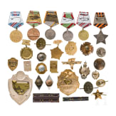 28 awards and small badges, Soviet Union, since 1942
