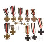 Zehn Ehrenkreuze für Frontkämpfer, Preußen, 1914 - 1918