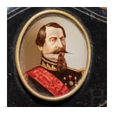 Emperor Napoleon III and King Victor Emmanuele II - a purse and a medallion
