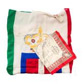 """An Italian flag - Bandiera Savoia con Coronae Fazzoletto """"Italia Redenta"""""""