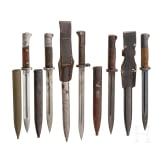 Five Mauser bayonets