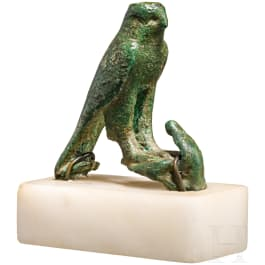 Horusfalke, Bronze, spätdynastisch-ptolemäisch, ca. 7. Jhdt. - 31 v. Chr.