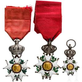 Three Orders of the Legion of Honour, 19th century