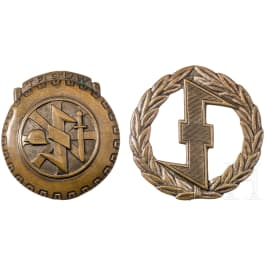 Loyalty badge for the Dutch volunteers of the NSKK group Luftwaffe + sports badge