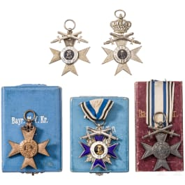 Military Merit Order 4th class with swords and four Military Merit Crosses