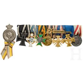 Medal bar of a member of the Brunswick Infantry Regiment No.92