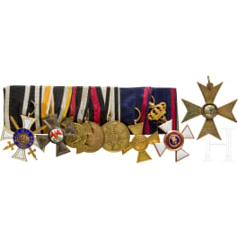 A 1st model Order of the Crown 3rd Class with Swords on an orders clasp