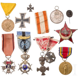 Group of awards Prussian and International orders