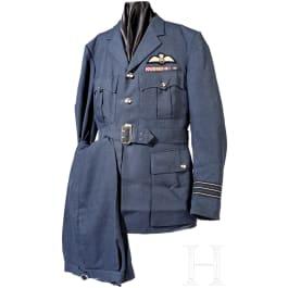 Wing Commander David George Walker (1924 - 2004) - uniform and flight books