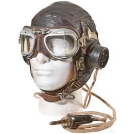 An RAF Flight Helmet and Goggles