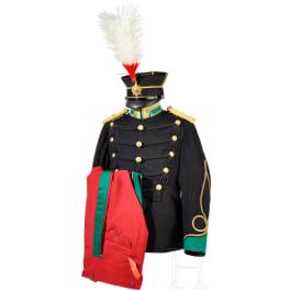 Uniform ensemble for a cavalry officer in World War II