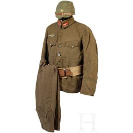 A uniform and equipment ensemble for a 1st lieutenant, World War II