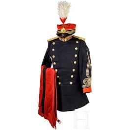 Uniform ensemble for officers of the military police (Kempeitai), Meiji period