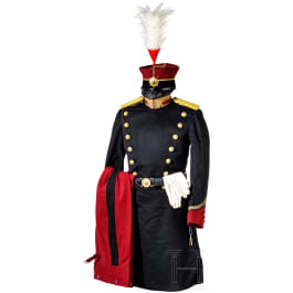 Uniform ensemble for officers of the military police (Kempeitai) in World War II