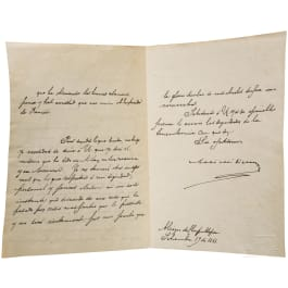 Emperor Maximilian I of Mexico (1832-67) - a letter dated 19 September 1866 written and signed in his own hand
