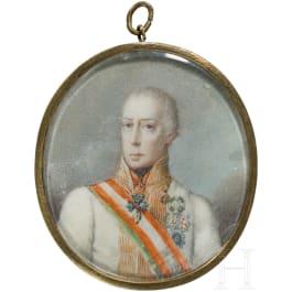 Emperor Franz I (1768 - 1835) - fine miniature portrait of 1822