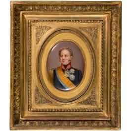 Miniature portrait of Tsar Alexander I, Russia, 1st half of the 19th century
