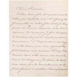 Tsar Alexander II. (1818 - 1881) - letter with handwritten signature, Russia, dated 1870
