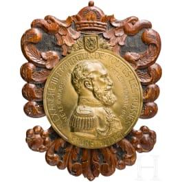 Tsar Alexander III - large bronze plaque on his death in 1894