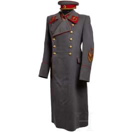A Soviet Marshal Coat, Tunic, Belt, Cap and Awards