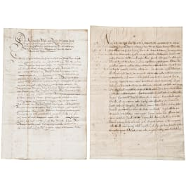 Thirty Years War - Axel Oxenstierna (1583-1654), Queen Christine - two documents on war financing 1634 and 1639