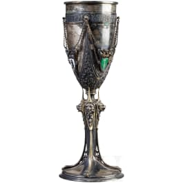 """Silver shooting cup """"Swiss Federal Shooting Festival St. Gallen 1904"""""""