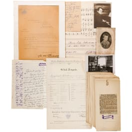 Photo and document bequest of the court pianist Gabriele von Lottner