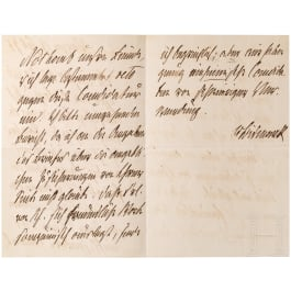 Otto von Bismarck (1815 - 1898) - personally written and signed letter as Reich Chancellor, 19.7.1873