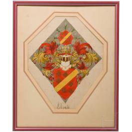 Ernst Krahl (1858 - 1923) - Alsace coat of arms