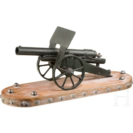 Trench art model of a light 75 mm field gun after the French M 1897