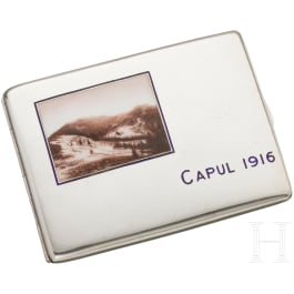"""Silver cigarette case """"Capul 1916"""""""