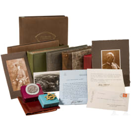 Lieutenant general Franz Xaver Ritter von Held (1862 - 1943) - seven war photo albums, two badges, documents, etc.
