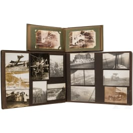 Two photo albums of the pilot lieutenant Hans Gilg in the airforce unit 38
