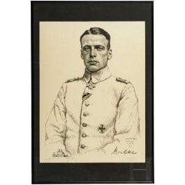 Oscar Graf (1873 - 1958) - portrait of Oswald Boelcke