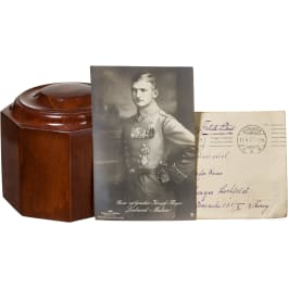 """Wooden base for the cup of honour """"To the winner in air combat"""""""