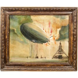 A Painting of the Hindenburg Disaster
