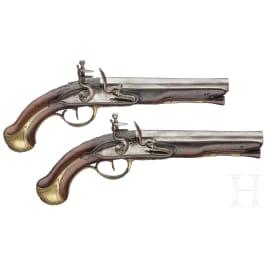 Ein Paar Steinschlosspistolen, Peyret & Fils in St. Etienne, um 1760