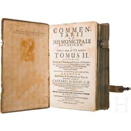 """Johannis Hermann, """"Commentarii ad Jus Municipale Bavaricum"""", Munich, 1645"""