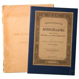 Textteil der Waffensammlung Spitzer und Waffen-Ausstellungskatalog des Mähr. Museums in Brünn