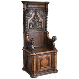An Italian Renaissance armchair, 15th/19th century